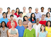 Large group of multi - ethnic people — Stock Photo