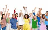 Group of people celebrating — Stock Photo