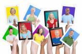 People holding tablets — Stock Photo
