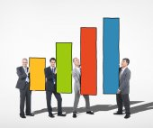 Business People Holding Bar Graph — Stock fotografie