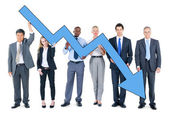 Business People on Economic Crisis — Stock Photo