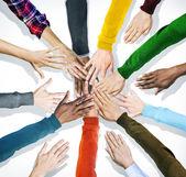 Human Hands Holding Together — ストック写真