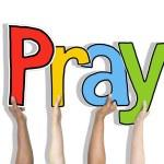 Hands Holding Word Pray — Stock Photo #59977067