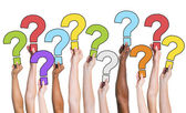 People Holding Question Marks — Stock Photo