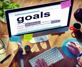 Digital Dictionary Goals Strategy Vision Concept — Stock Photo