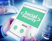 Tablet with Social Security Concept — 图库照片