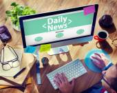 Computer with Daily News Concept — 图库照片