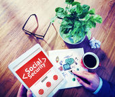 Tablet with Social Security Concept — Stock Photo