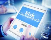 Tablet with Risk Management Concept — Stock Photo