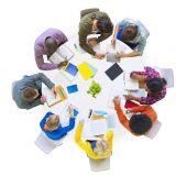 Diverse People Brainstorming in Team — Stockfoto