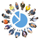 People with Pie Chart — Stock Photo