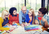 Designers Working and Brainstorming — Stock Photo