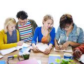 Multiethnic Group of People Meeting — Stock Photo