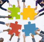 Business Team Unity Jigsaw Puzzle — Stock Photo