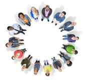 Eople Forming Circle Looking Up — Stock Photo