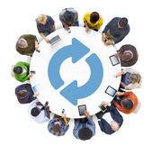 Group of Peolple Social Networking — Stock Photo