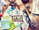 Note Pad with Sale Concepts — Stock Photo