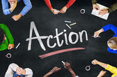 People and Action Concept — Stock Photo