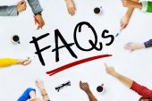 People Working and FAQs Concept — Stock Photo