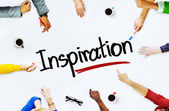 People Discussing About Inspiration — Stock Photo