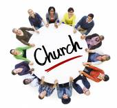 People and Church Concepts — Stockfoto