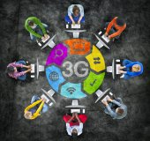 Diverse People with 3G Concept — Stock Photo