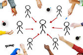 People in a Meeting and Connection Concepts — Стоковое фото