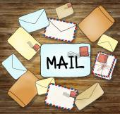 Mails and Communication Concepts — Stock Photo