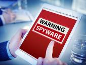 Hands Holding Tablet Spyware — Stock Photo