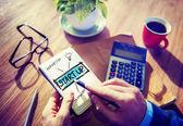 Businessman Notepad Start Up Concept — Zdjęcie stockowe