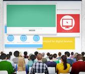 People at Web Designer Seminar — Stockfoto
