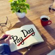 Man and Word Pay Day — Stock Photo #60067609