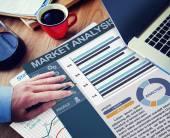 Businessman working with Market Analysis — Stock Photo