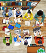 Multiethnic Group of People Brainstorming — Stock Photo