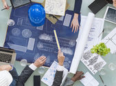 Group of Architects Planning — Stock Photo
