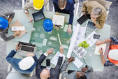 Architects Around Conference Table — Stock Photo