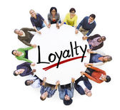 People Around Letter Loyalty — Stock Photo
