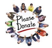 People Around Please Donate — Stock Photo