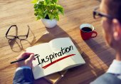 Man Brainstorming with Inspiration Concept — Stock Photo
