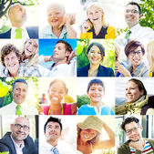 Portrait of Multiethnic Diverse Cheerful People — Stock Photo