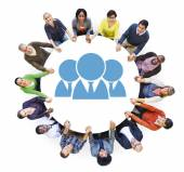 People with Teamwork Concept — Stock Photo