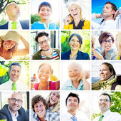 Portrait of Diverse Cheerful People — Stock Photo