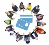People with ID Card Symbol — Stock Photo
