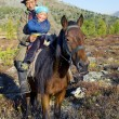 Mongolian Tsataan on Horse — Stock Photo #60078217