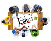 People Discussing About Ethics — Stock Photo