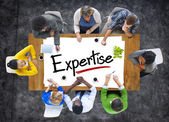 People Discussing About Expertise — Stock Photo