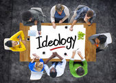 People Brainstorming about Ideology Concept — Stock Photo