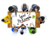 People and lead by example — Stock Photo