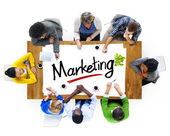 People and Text Marketing — Stock Photo