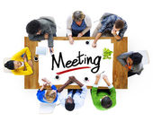 People and Text Meeting — Stock Photo